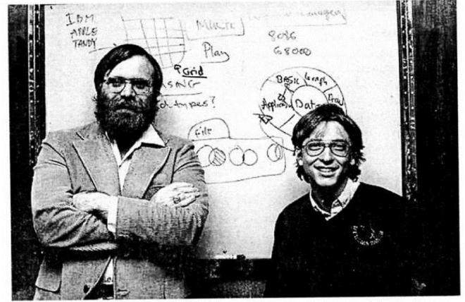 слика 2. Пол Ален и Бил Гејтс, оснивачи Microsoft-а